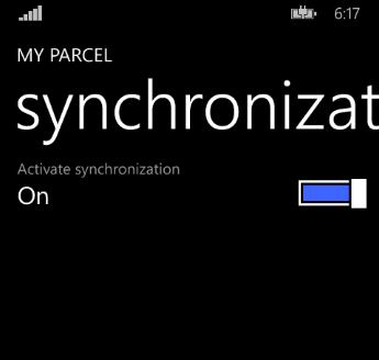 Настройка синхронизации данных приложения Моя посылка!